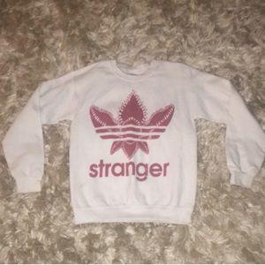 Stranger things/adidas Crewneck